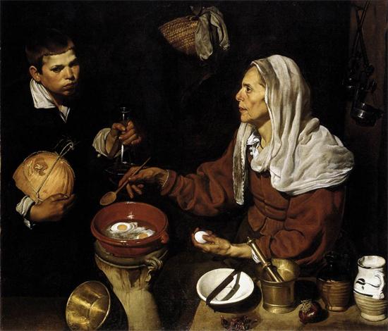 Веласкес «Жінка готує яєчню», 1618