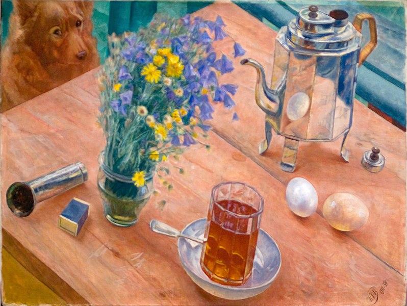 Кузьма Перов-Водкін «Ранковий натюрморт», 1918