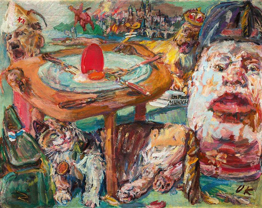 Оскар Кокошка «Червоне яйце», 1940–1941. Зібрання Національної галереї, Прага