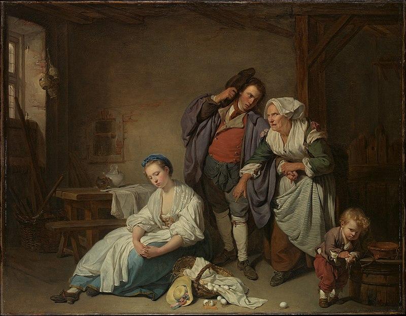 Жан-Батіст Грез «Розбиті яйця», 1756