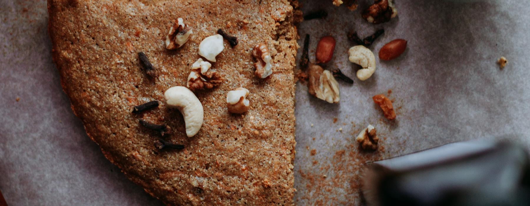 ореховый бисквит без муки